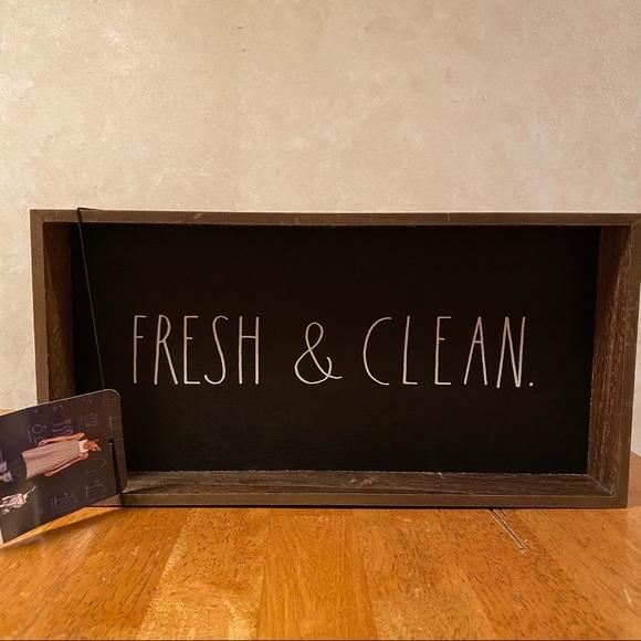 Rae Dunn FRESH & CLEAN Wood Tray